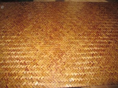Herringbone Weave Green Matting Roll Wallpaper// Wainscoting//Ceiling Cover 4x8