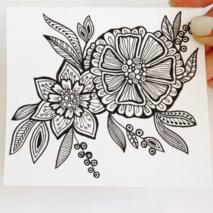 Photo of Zentangle flower tutorial