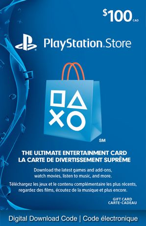 Sony Playstationnetwork 100 Playstation Store Gift Card Digital Download Walmart Canada Gift Card Generator Ps4 Gift Card Free Gift Card Generator