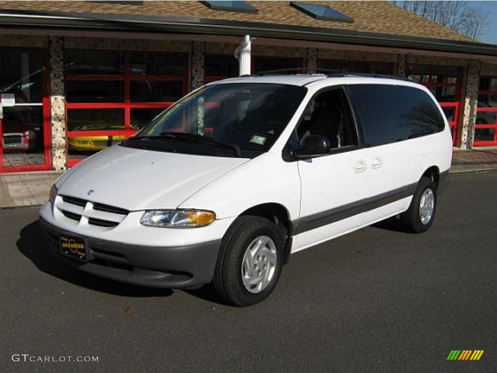 White 1999 Dodge Grand Caravan Bought From Budget Rental Used