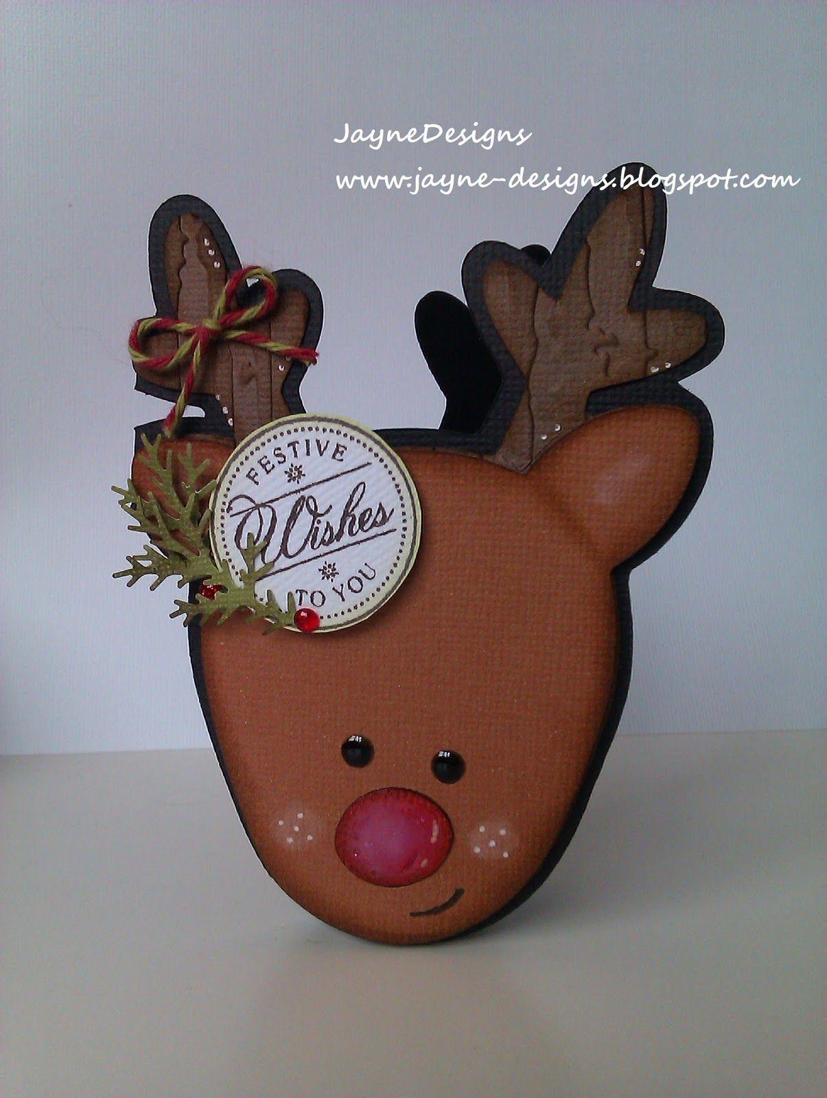 JayneDesigns: Reindeer Christmas Card!