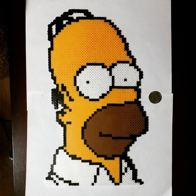 Homer Simpson perler beads by phill_larrup