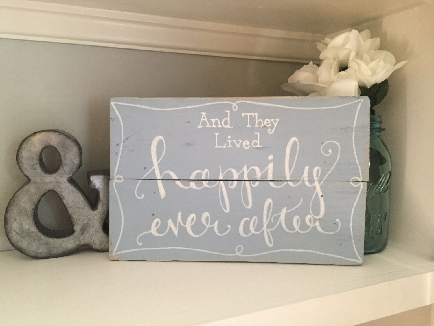 And They Lived Happily Ever After Sign ~ Disney Wedding/ Anniversary Gift, Reclaimed Wood, Rustic Hand Painted Sign, Rustic Home Decor by SweetChalkDesigns on Etsy https://www.etsy.com/listing/240016074/and-they-lived-happily-ever-after-sign
