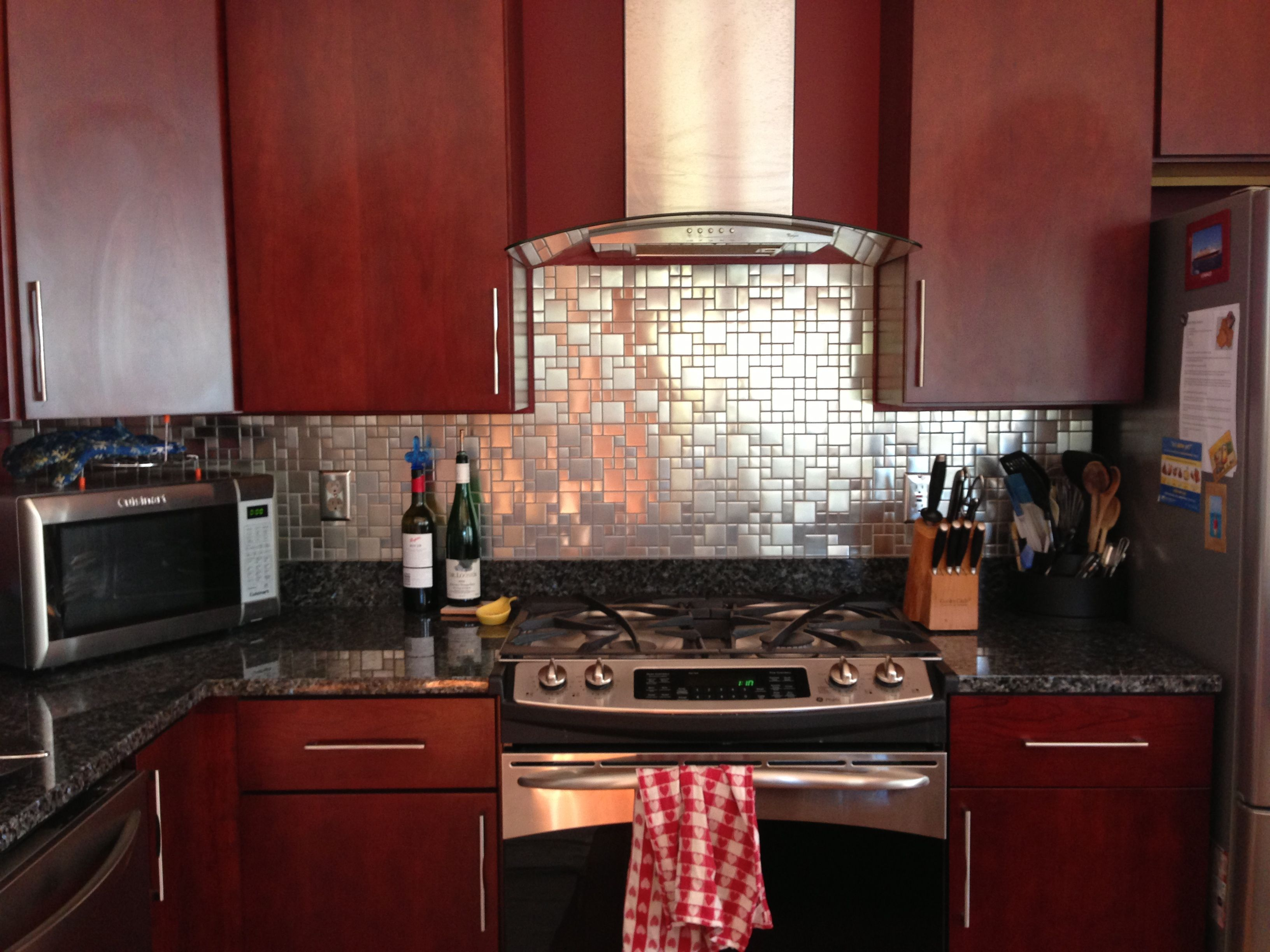 Kitchen Switch Plates Kitchen Backsplash With Brushed Stainless Steel Tiles Matching