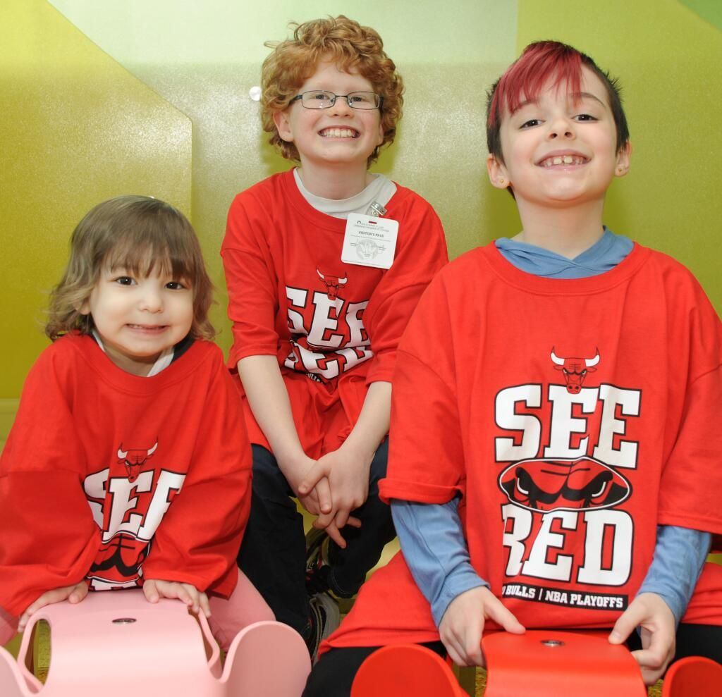 Our friends at Lurie Children's Hospital sent us this great photo of a few tiny Bulls fans ready to #SeeRed