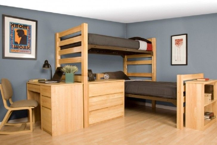 Images College Dorm Room Ideas With Bunk Beds For Boys 728x485 In Loft Beds  For Dorm Design