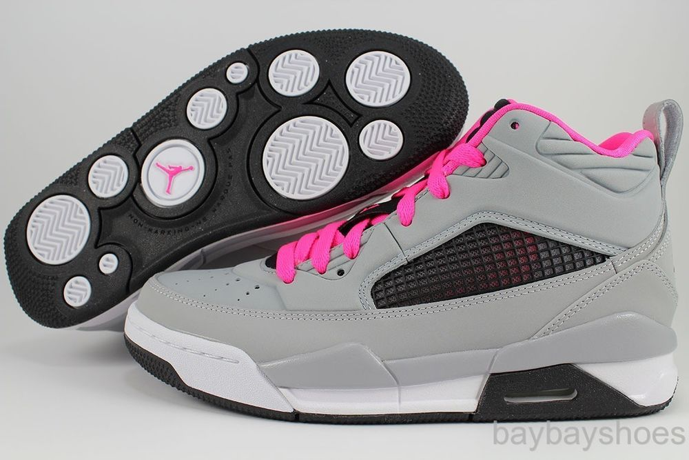 wholesale dealer 977ba bd5fd NIKE AIR JORDAN FLIGHT 9.5 WOLF GRAY BLACK HYPER PINK HIGH HI WOMEN GIRLS  YOUTH in Zapatos para niñas   eBay