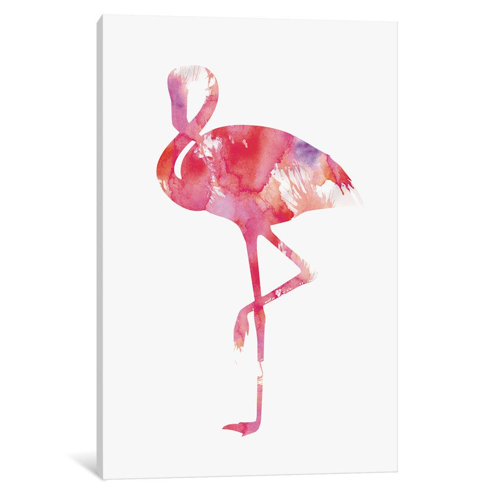Love This Andreas Lie Pink Flamingo Giclée Wred Canvas On