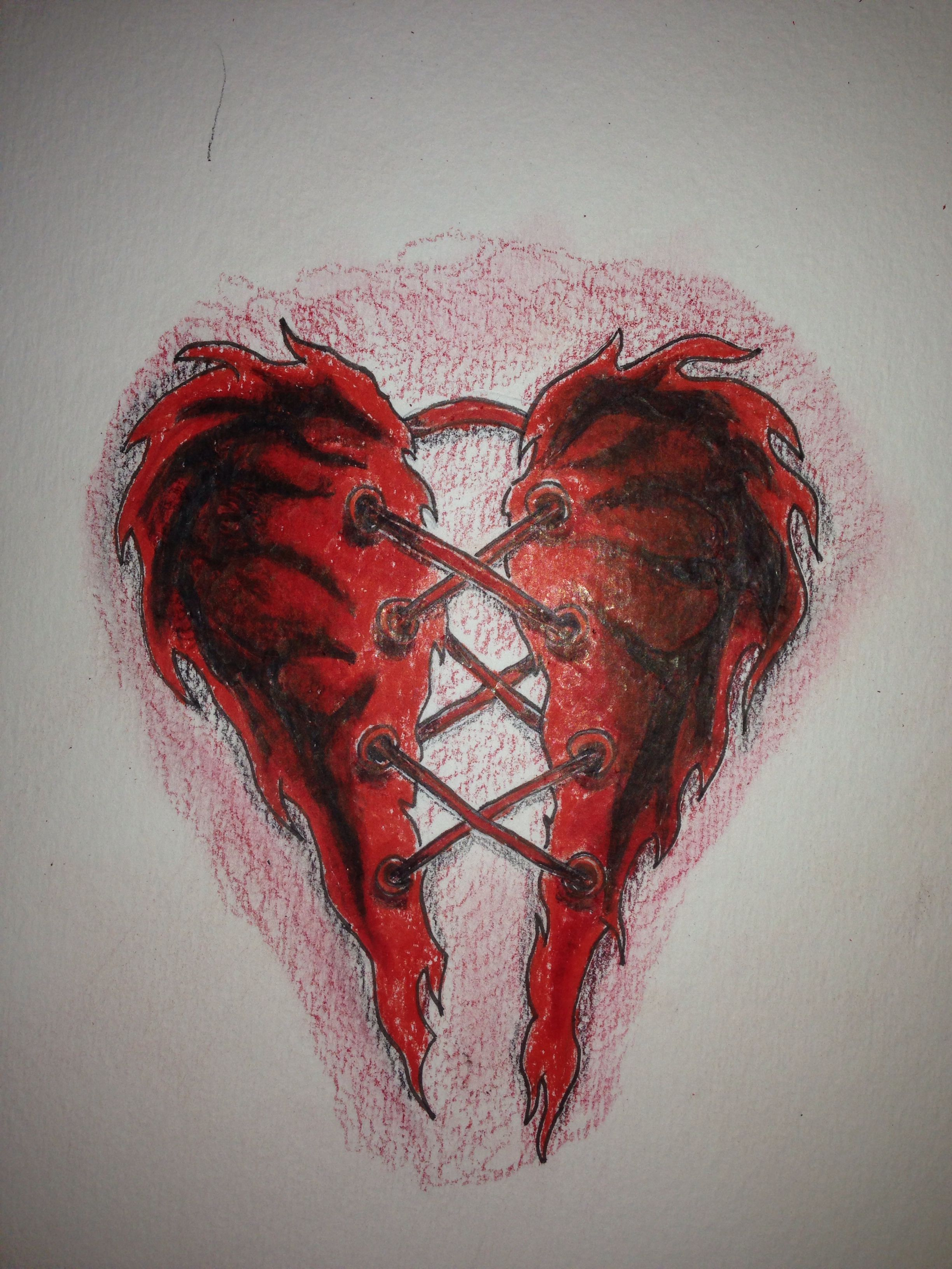 Torn heart tattoo sketch. (With images) Broken heart