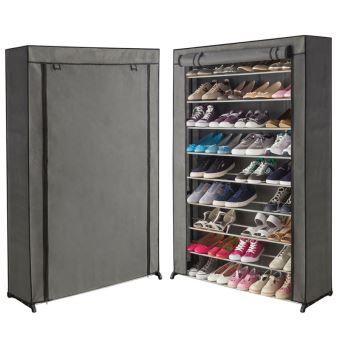 10 Sur Etagere Range Chaussures 50 Paires Housse Grise Achat Prix Fnac En 2020 Rangement Chaussures Meuble Chaussure Rangement