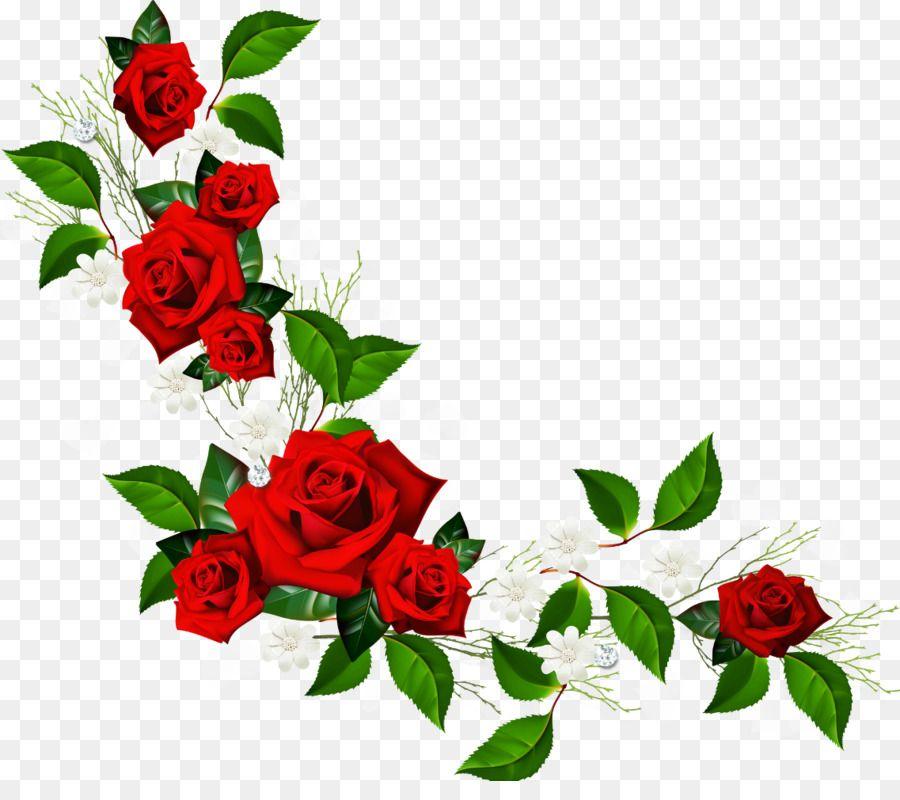 Free Rose Border Png Rose Clipart Clip Art Borders Flower Frame Png