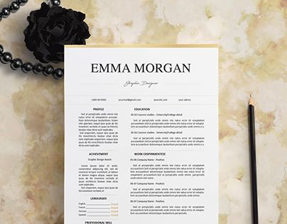 Check out new work on my @Behance portfolio  - classic resume template
