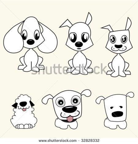 Silhouette-chien Photos et images de stock | Shutterstock | Dessiner ...