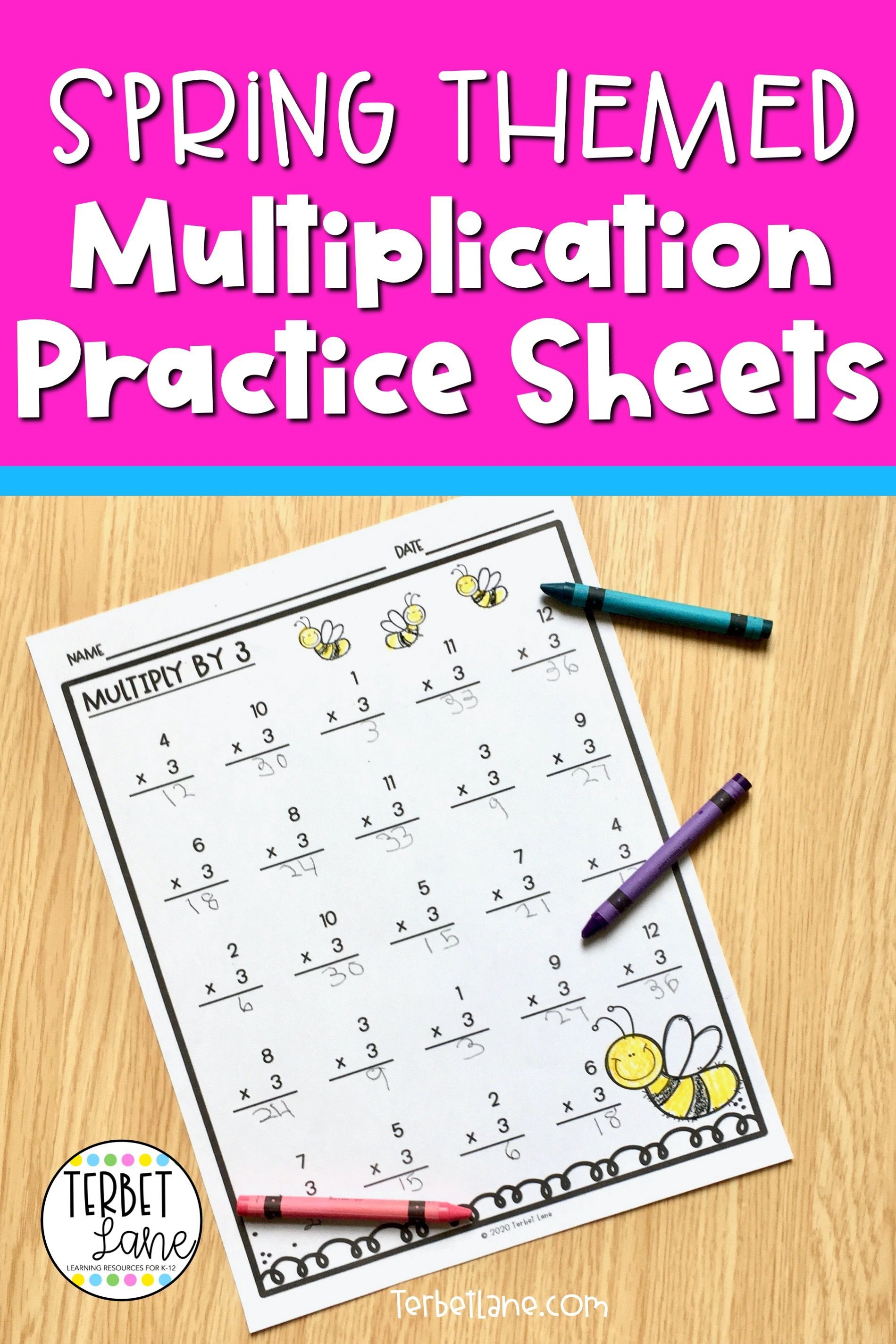Spring Math Multiplication Worksheets Distance Learning In