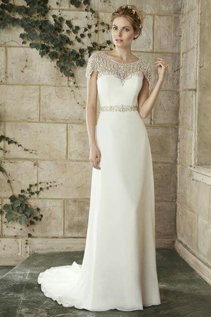 Fully beaded neckline wedding gown by Maggie Sottero | vestidos de ...