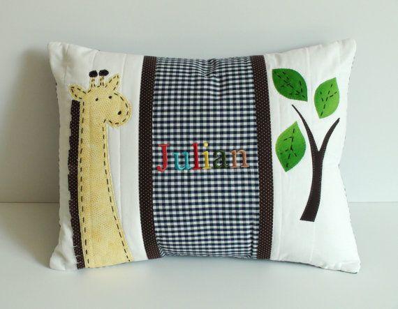 Giraffe Pillow Personalized Baby Pillow 40x40 By PillowCorner Extraordinary Children's Decorative Pillows