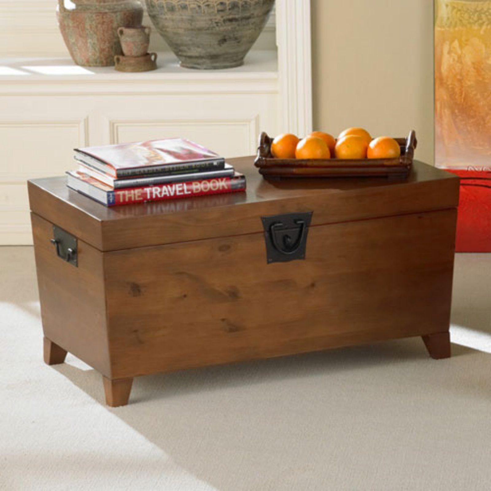 Southern Enterprises Pyramid Trunk Storage Bench Coffee Table