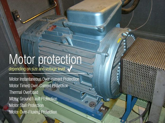 Motor protection depending on size and voltage level for We buy electric motors