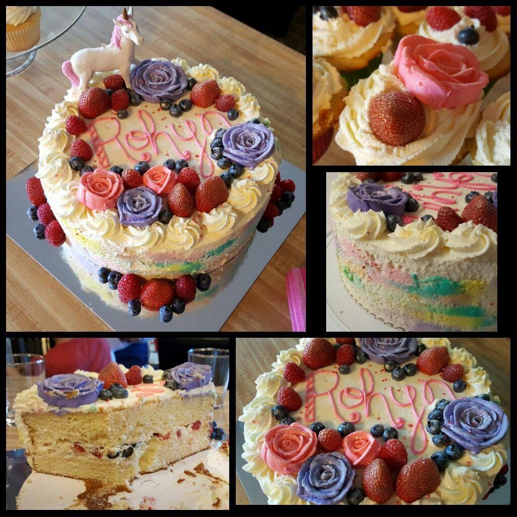 Rohyn's 3rd Birthday Cake, Buttercream Roses, Luster Dust