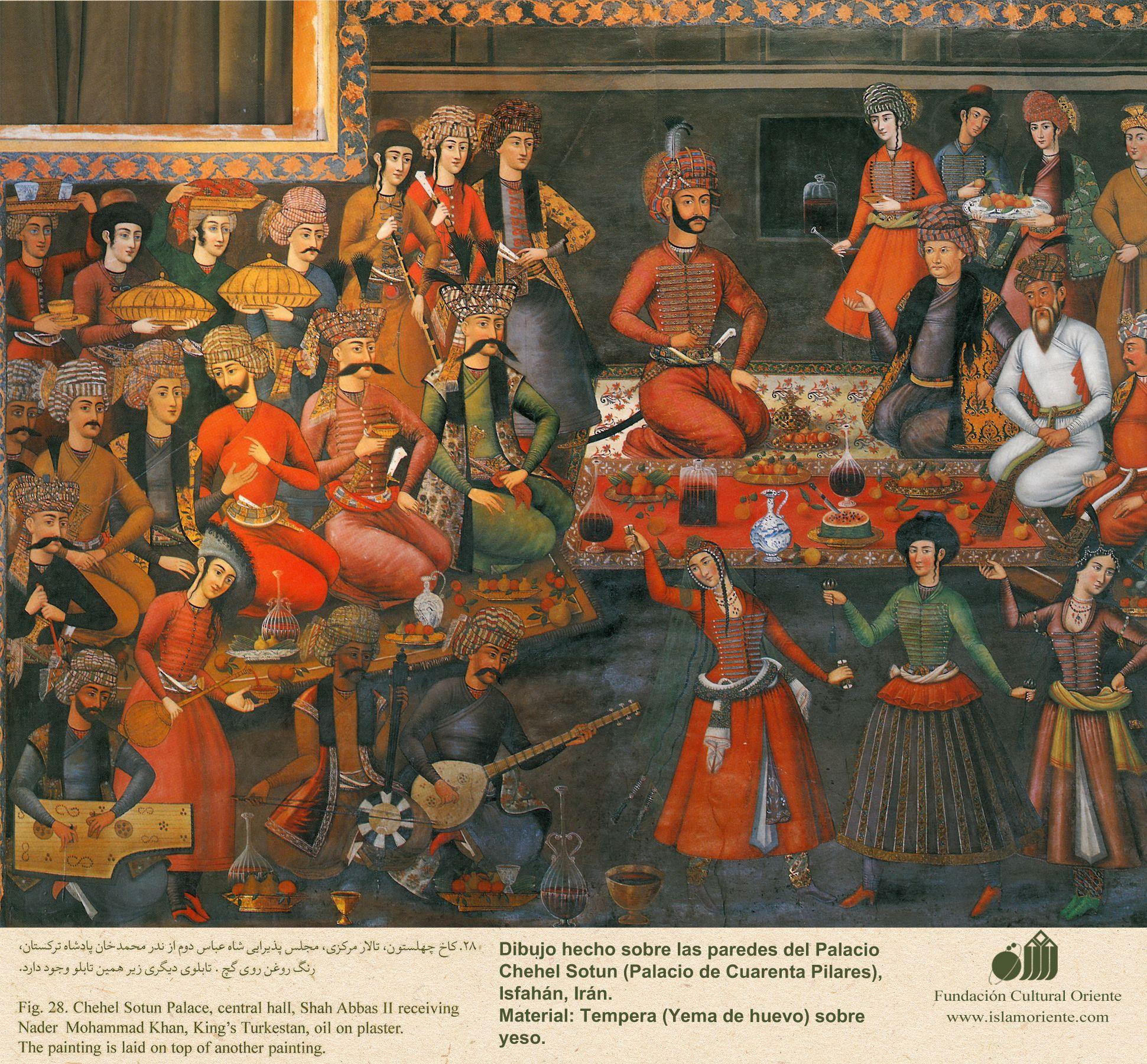 Miniature Art Mural - Chehel Sotoun (Palace of the 40 pilllars in ...