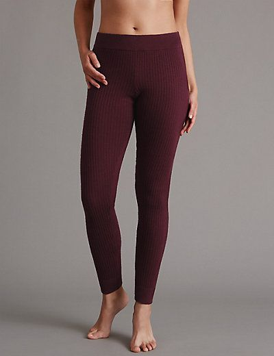 Ribbed Pyjama Bottoms with Cashmere | M&S