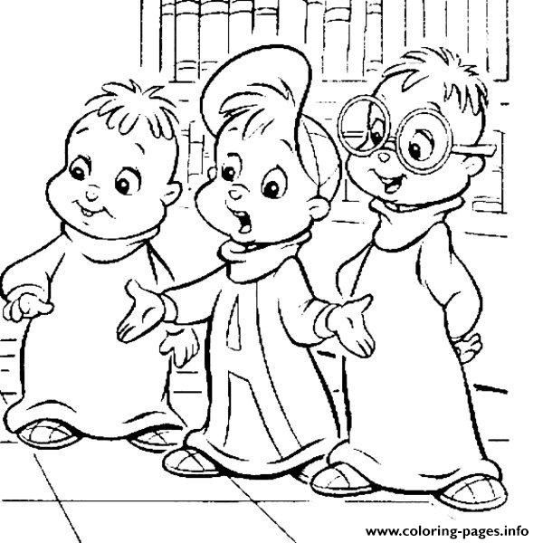 Print alvin and the chipmunks cartoon coloring pages embroidery