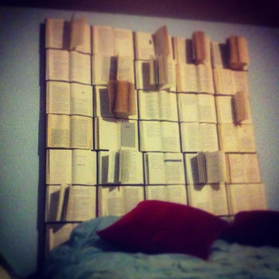 DIY book headboard | my completed house projects | Pinterest | Book ...