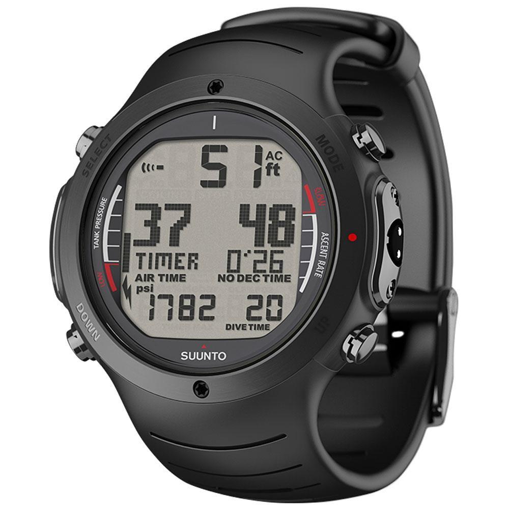 Suunto D6i Wrist Top Dive Computer All Black Athletic Watches Suunto Wristwatch Men