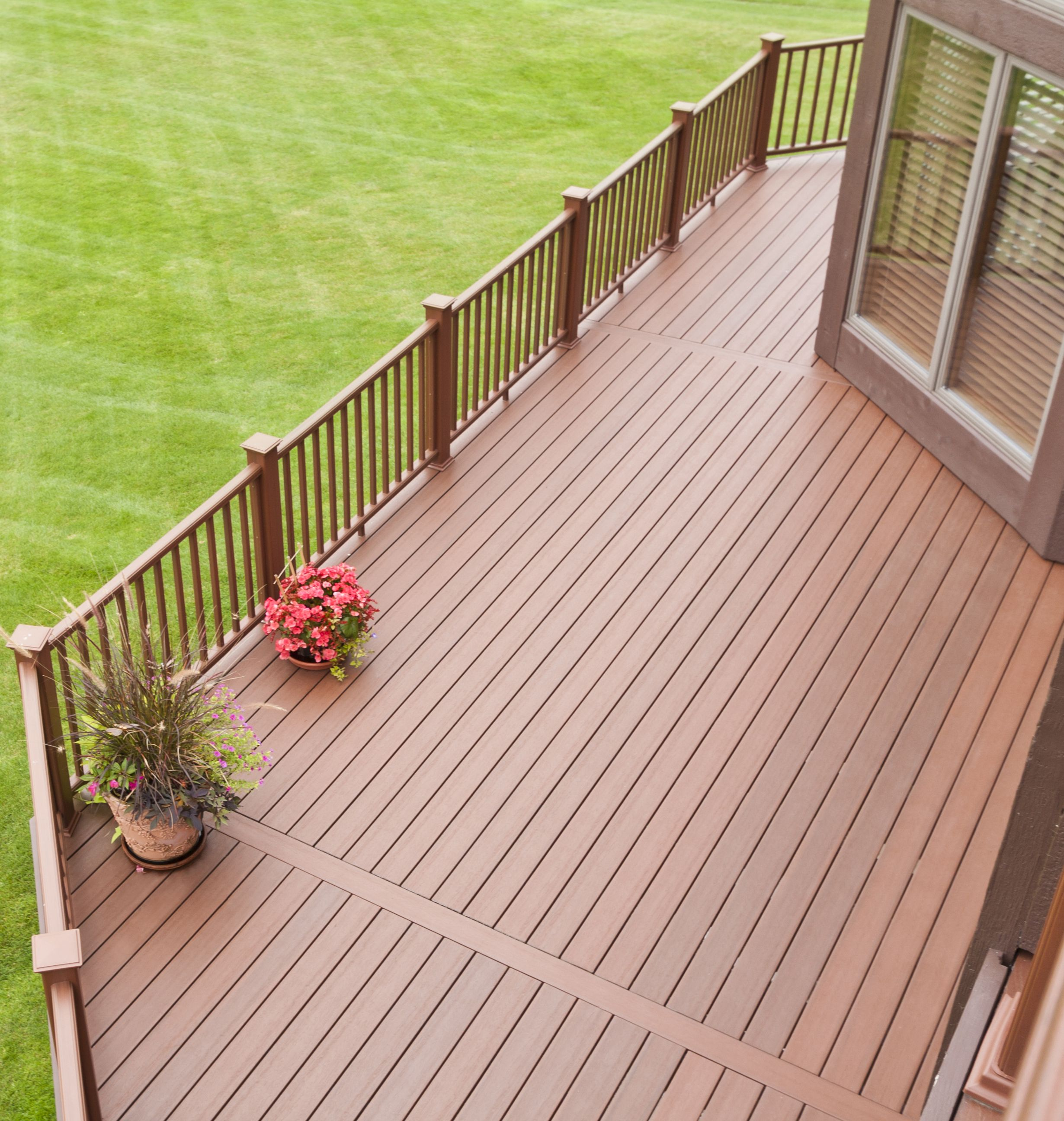 Decking materials we offer many deck material options such for Best composite decking material
