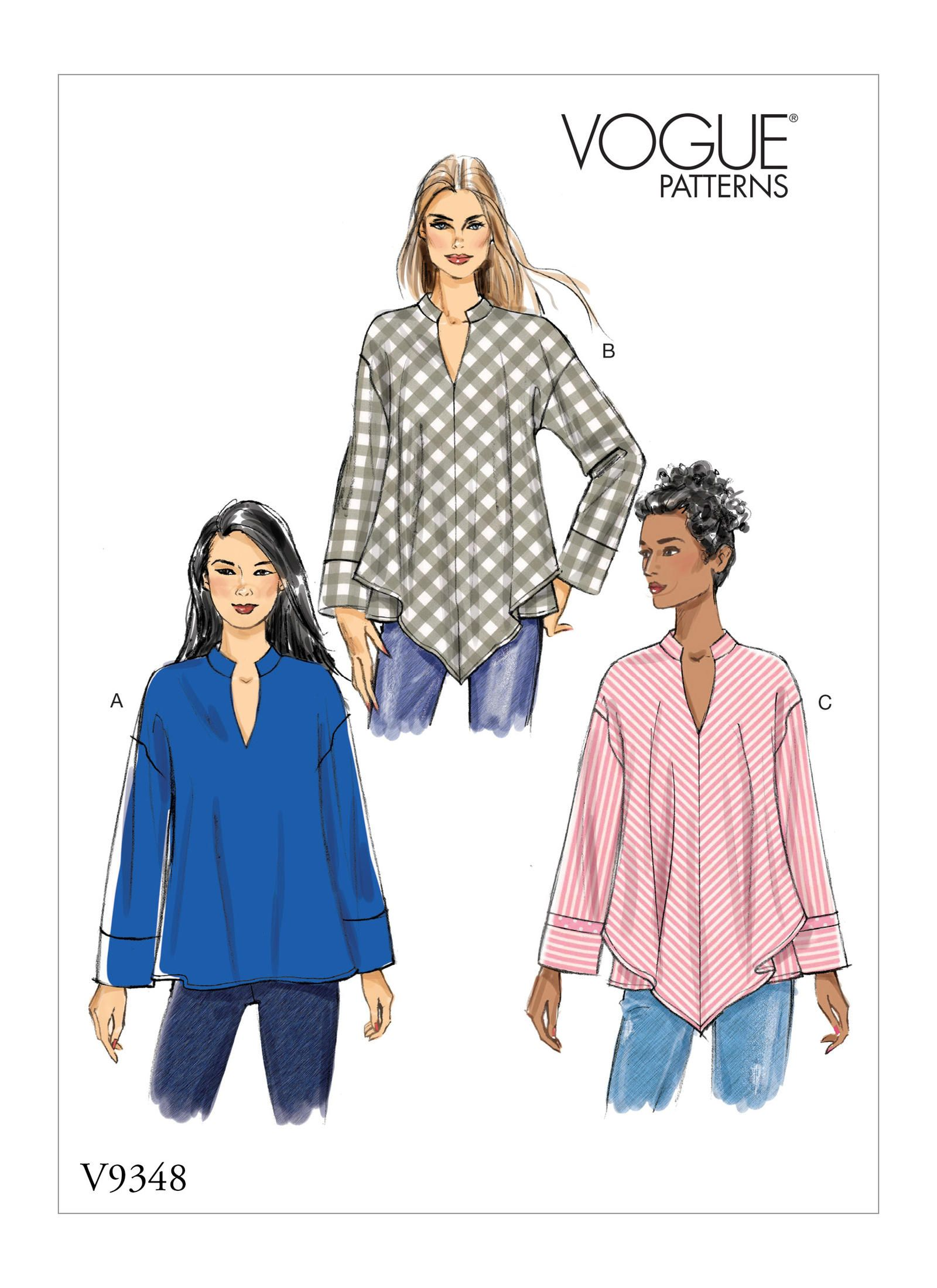 Simplicity Ladies Easy Sewing Pattern 8052 Loose Tunic Tops Simplicity-8052-A