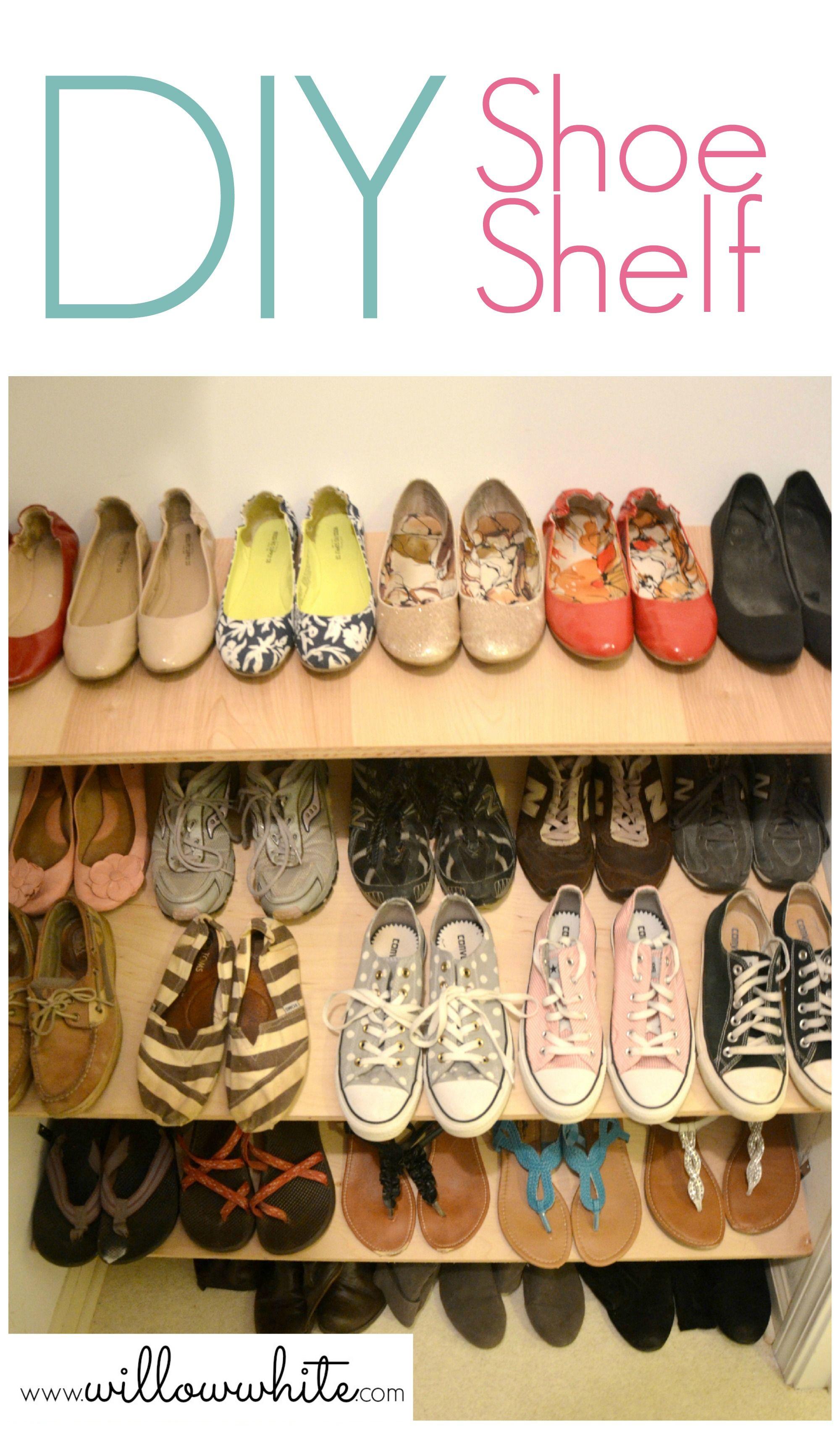 DIY Shoe Shelf