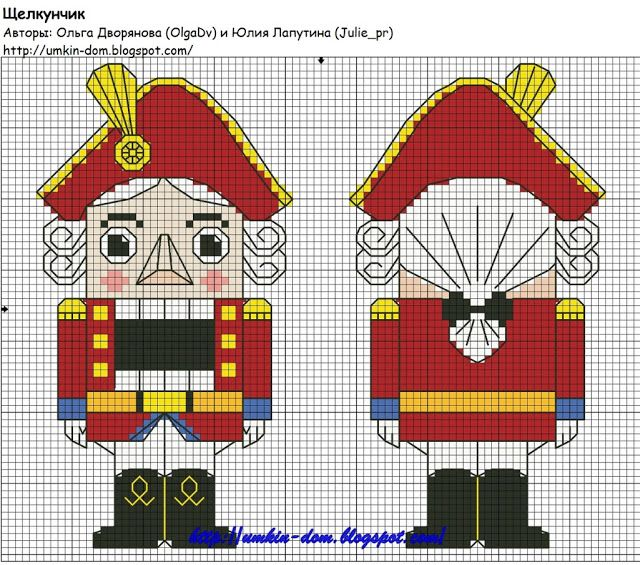 Christmas cross stitch pattern nutcracker | punto de cruz ...