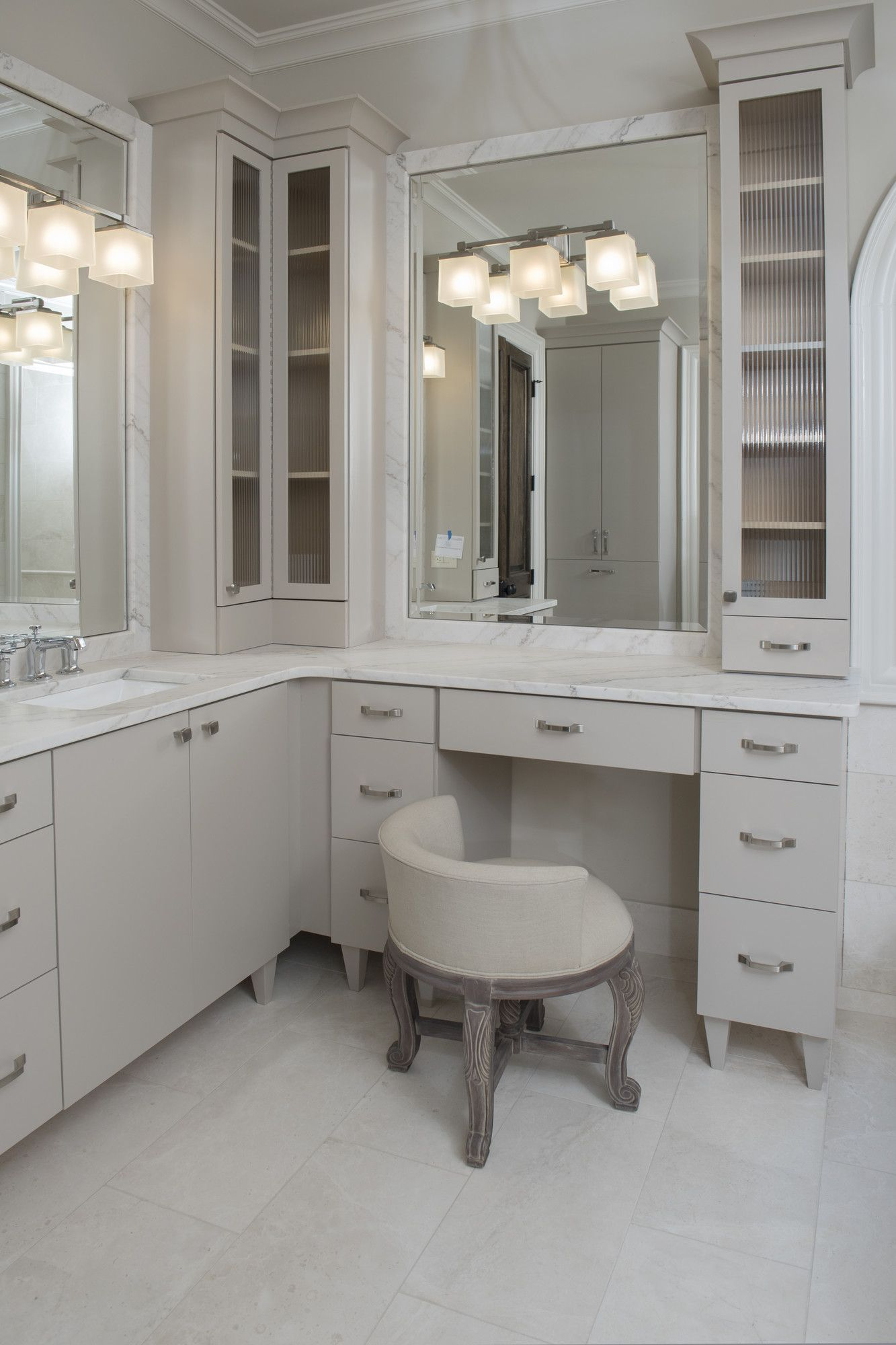 I Like The Material Around The Mirrors The Same As The Counter Top