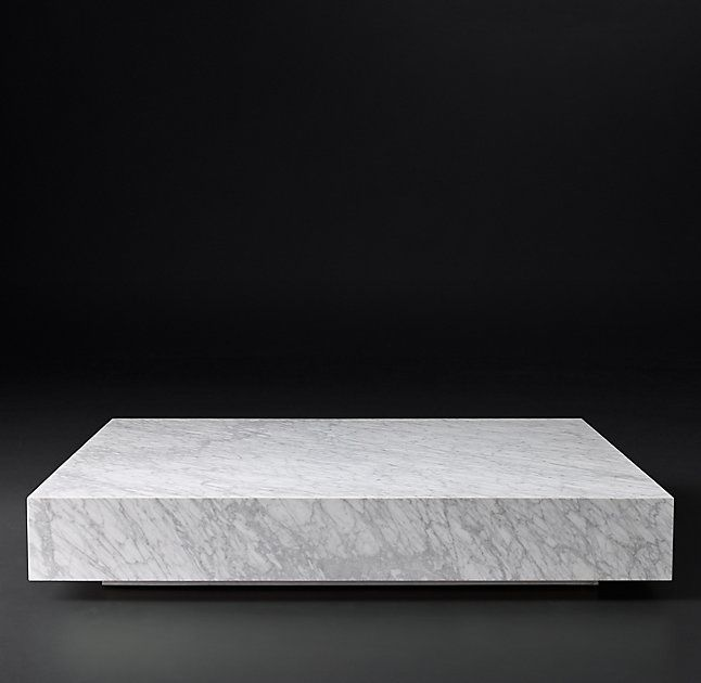 Low Marble Plinth Square Coffee Table 2771