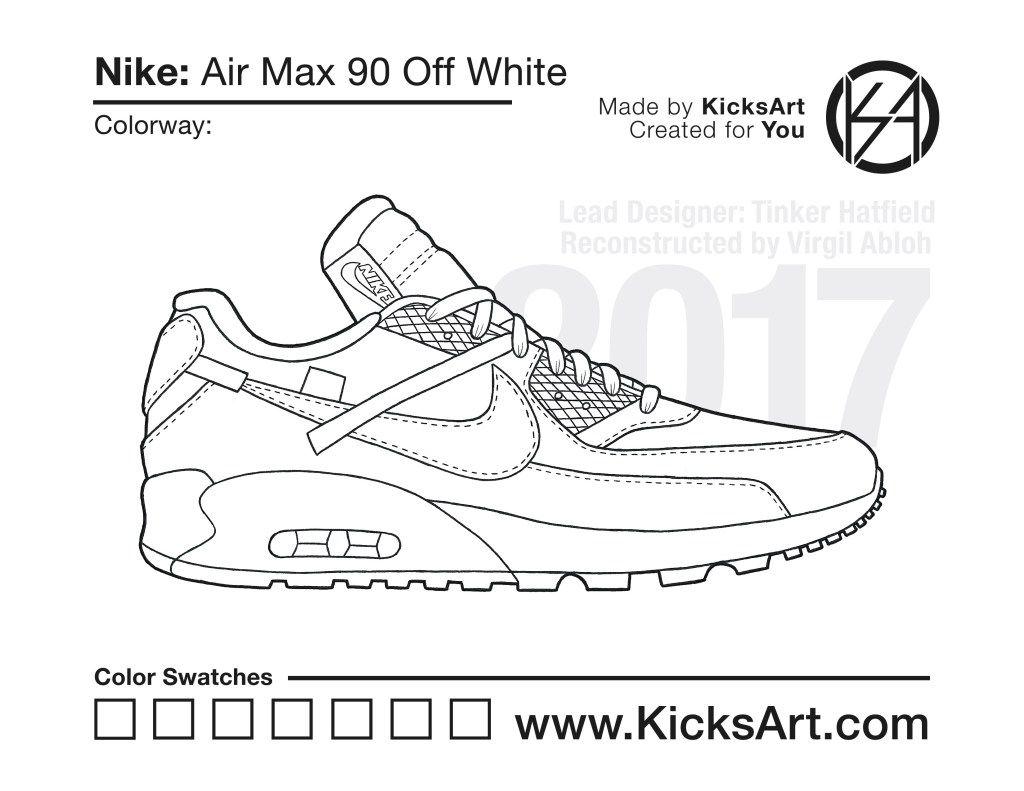 Nike Air Max 90 Off White Stencil Air Max 90 Air Max Nike Air Max 90