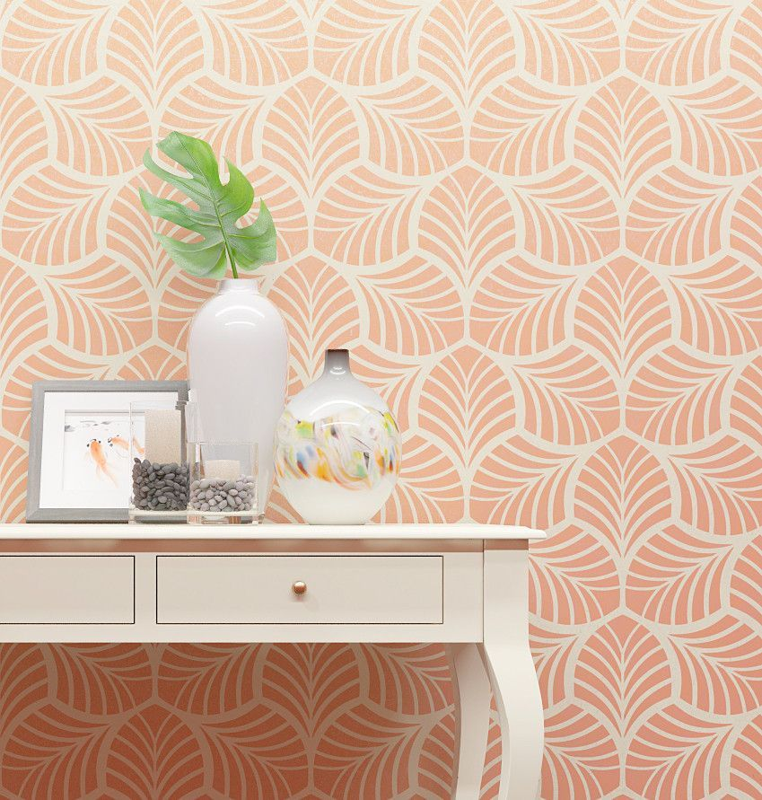 We created our Floral stencil to bring a piece of nature into your home. Our template can accentuate a working zone and add serenity to this section of your home. You can also use a stencil to paint a