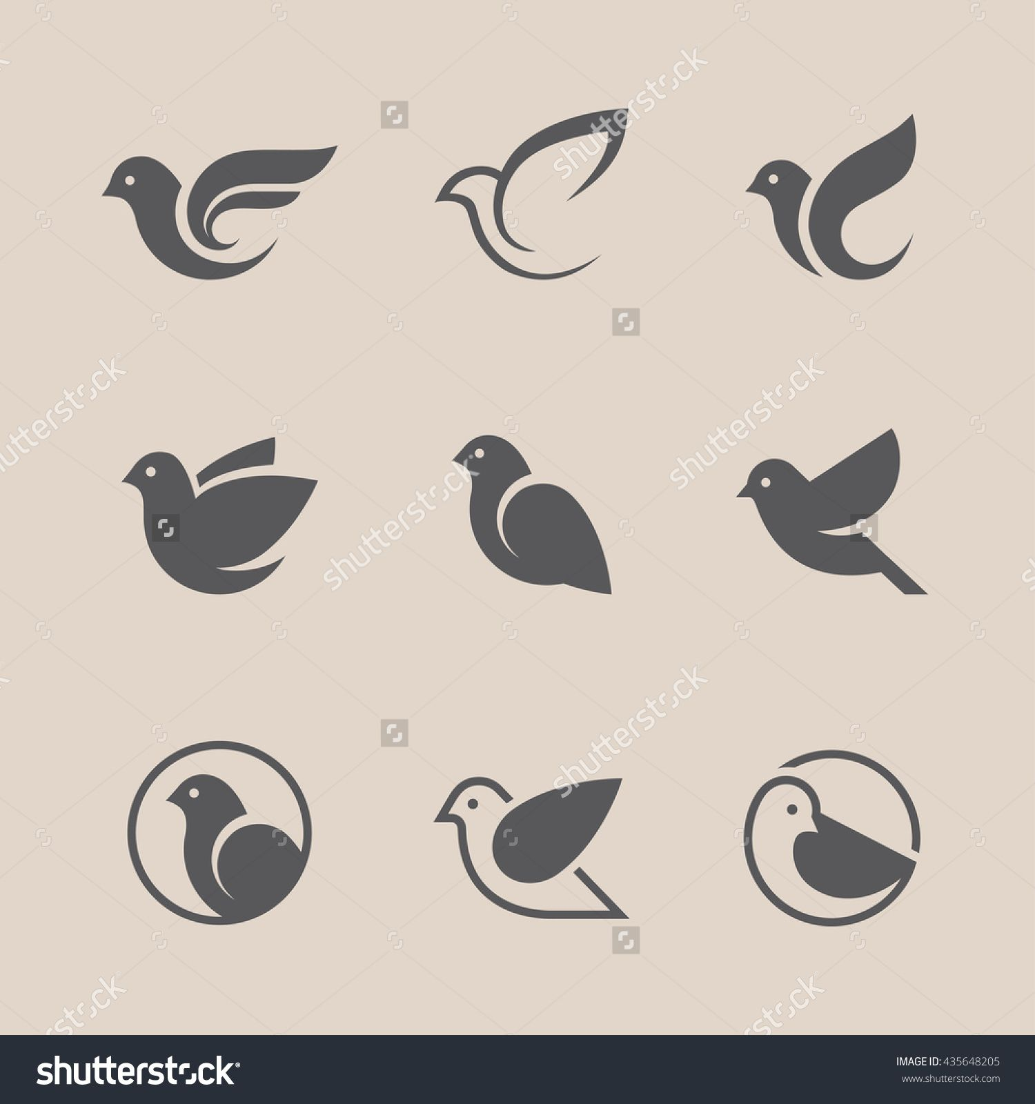 Bird icons set dove and pigeon abstract symbol can be used for dove and pigeon abstract symbol can be used for freedom or biocorpaavc
