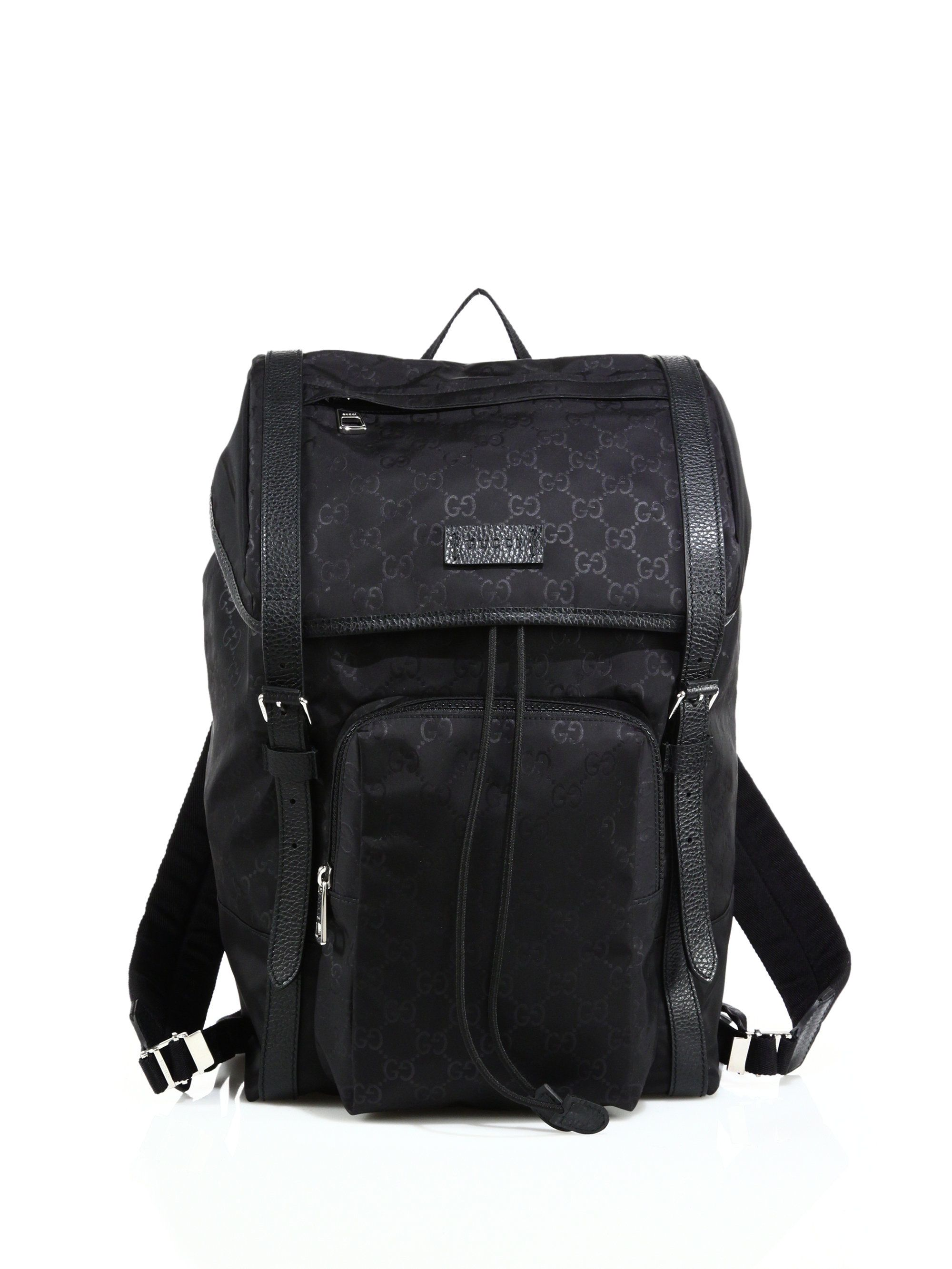 ea5b7e9f914 Gucci Nylon Sima Backpack in Black