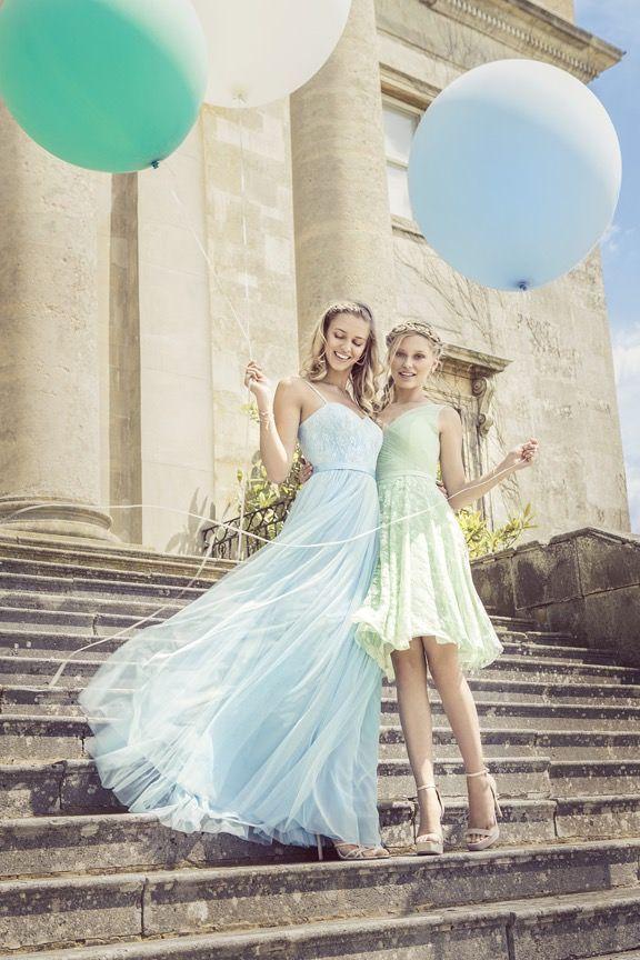 Brautjungfernkleider von Kelsey Rose | Pastellkleider, Dekoration ...