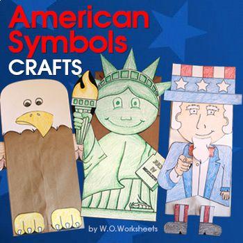 American Symbols Crafts Eagle Craft American Symbols And Writing