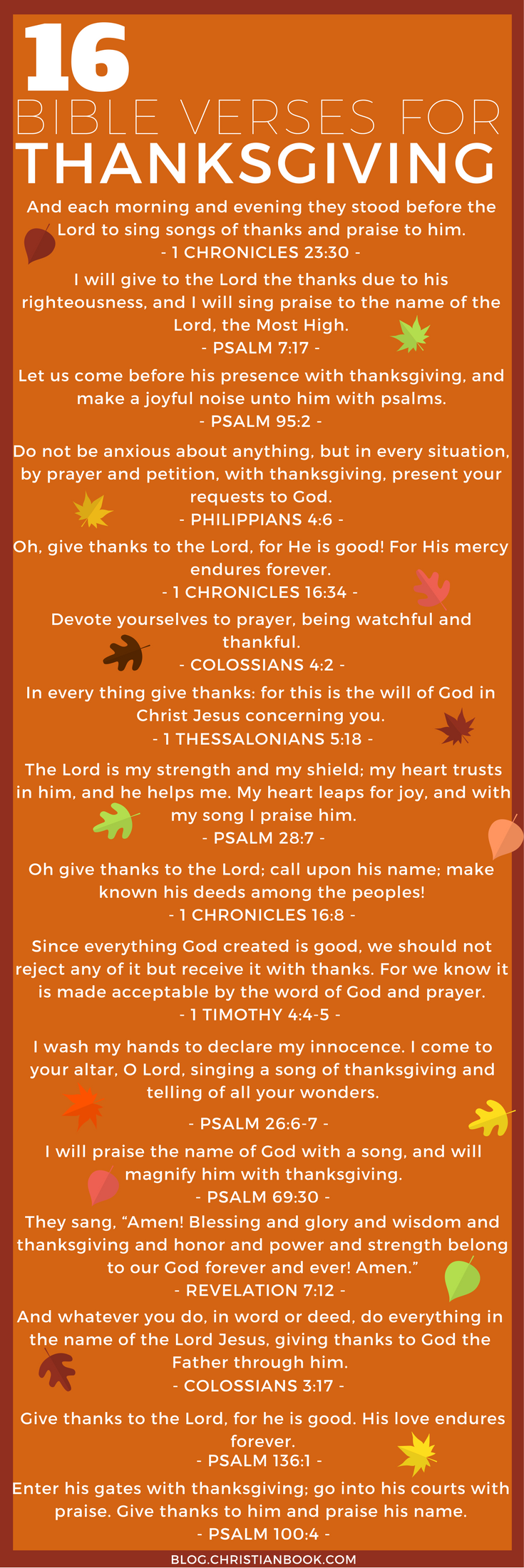 16 Bible Verses for Thanksgiving | thanksgiving ideas | Pinterest