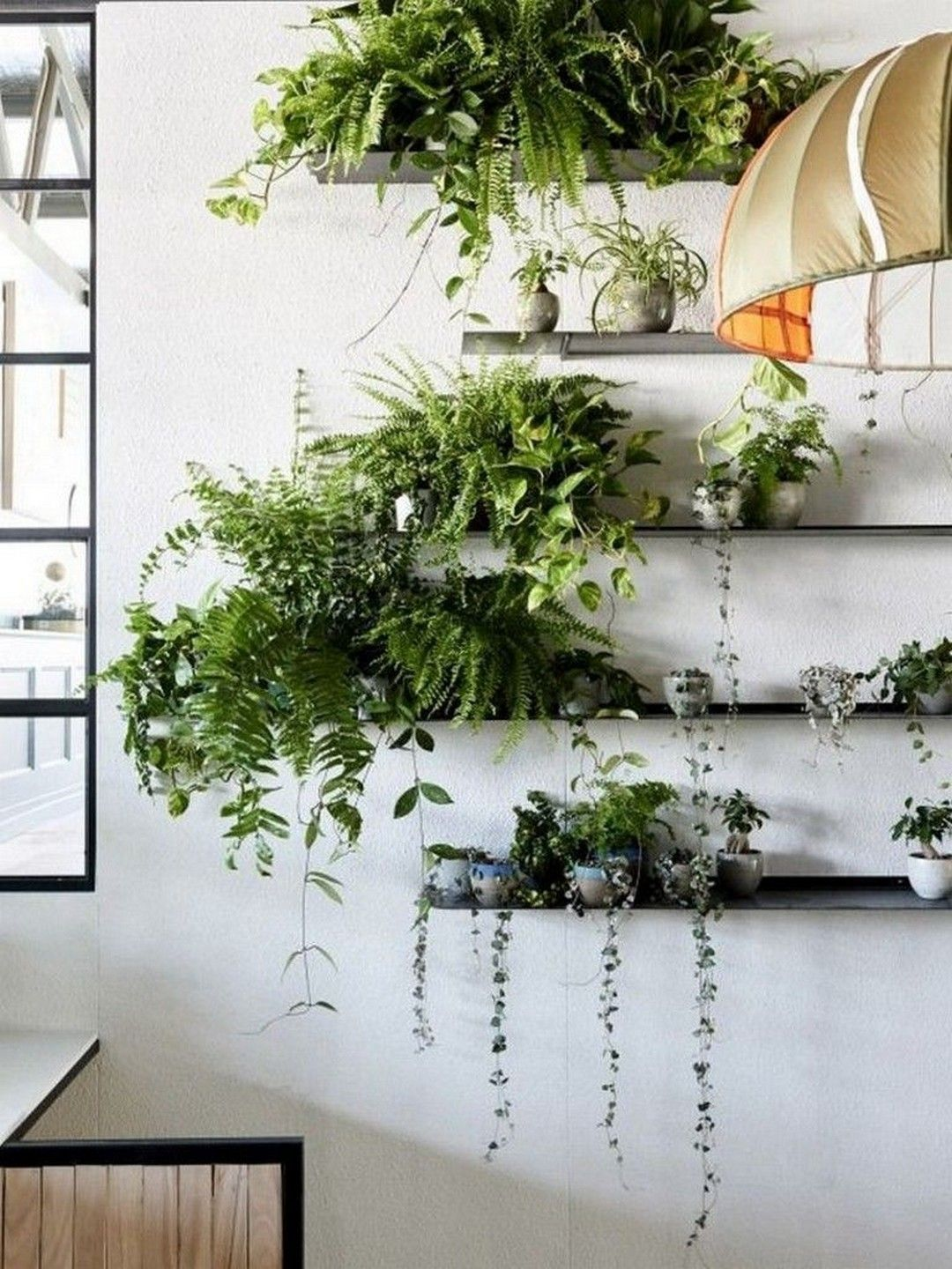 34 Amazing Wall Plants Decor For Cozy Living Room Indoor P