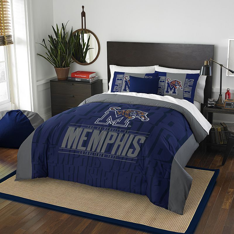 Memphis Tigers Modern Take Full/Queen Comforter Set by Northwest, Multicolor