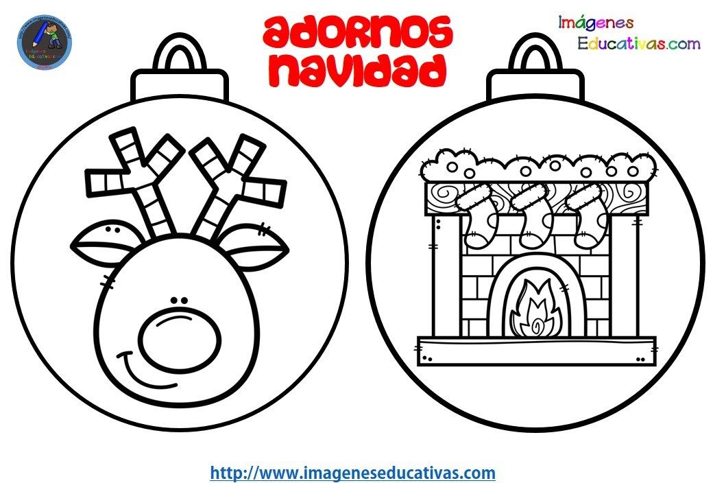 Imagenes Educativas Para Descargar: Colección De BOLAS DE NAVIDAD Para Colorear Totalmente