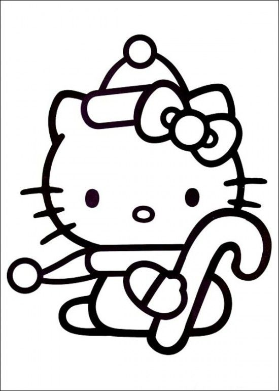 Hello Kitty Christmas Coloring Pages   Free Hello Kitty Christmas ...