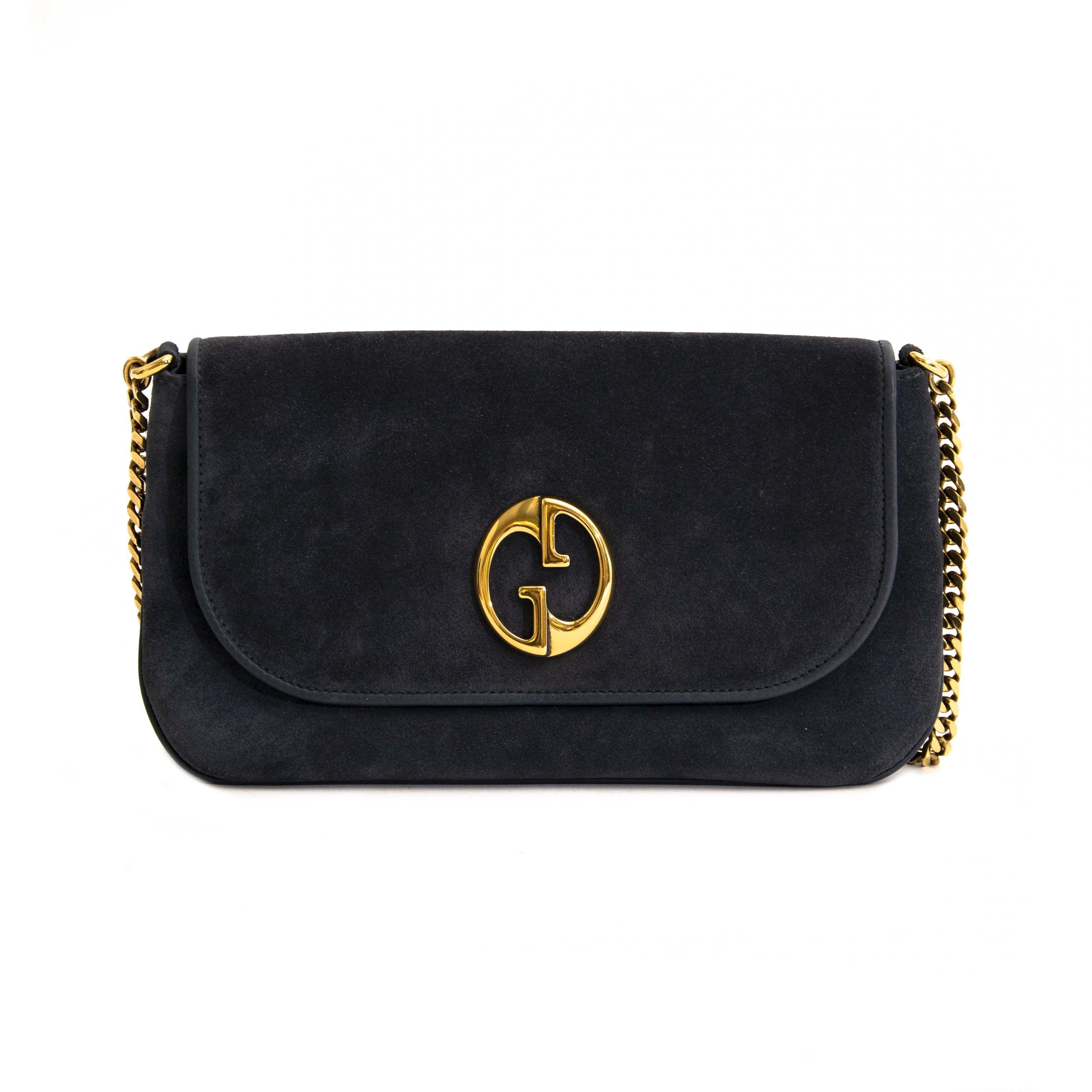 d2af660f7e1b37 Gucci Blue Shoulder Bag   Shop Labellov in 2019   Blue shoulder bags ...