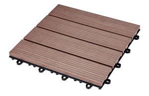 Ecolight Wooden Tile - 30x30 cm piha-/parvekelaatta komposiittimateriaalista, edullinen 3,99€