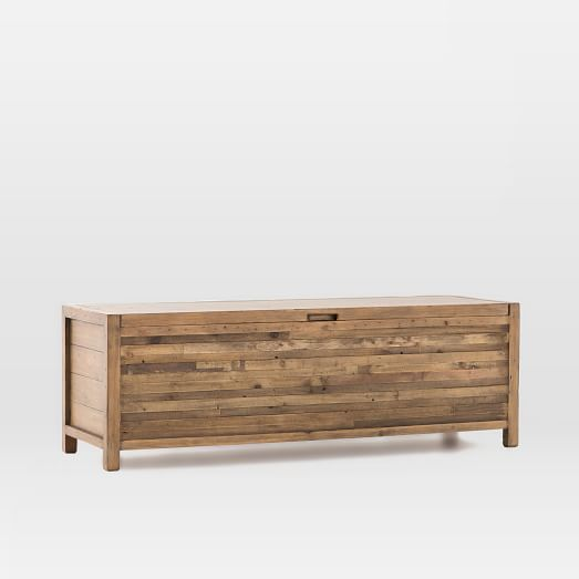 Bay Reclaimed Pine Storage Bench - Rustic Natural | Cofre y Baúl