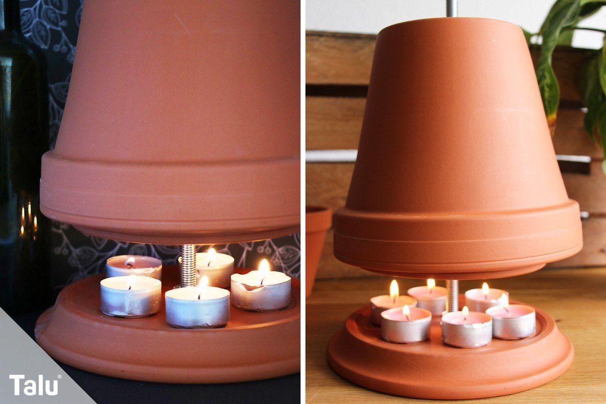 Teelichtheizung Kerzenofen Anleitung Fur Eine Diy Tontopf Heizung Talu De In 2020 Diy Tontopfe Teelicht Heizung Kerzen