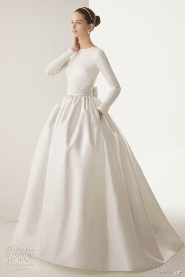 winter wedding dress simple, elegant | Al & Nick Wedding | Pinterest ...